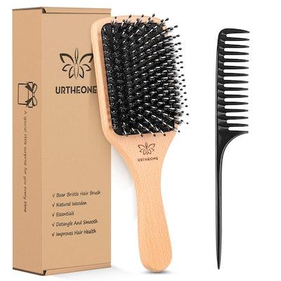 URTHEONE Boar Bristle Hairbrush
