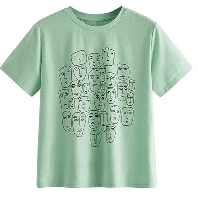 Romwe Graphic Printed T-Shirt