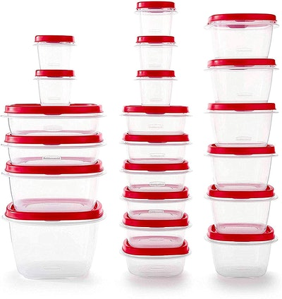 Rubbermaid Easy Find Food Storage Containers With Vented Lids (Set of 21)