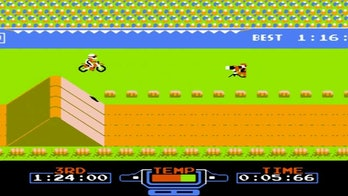 Gameplay in Excitebike