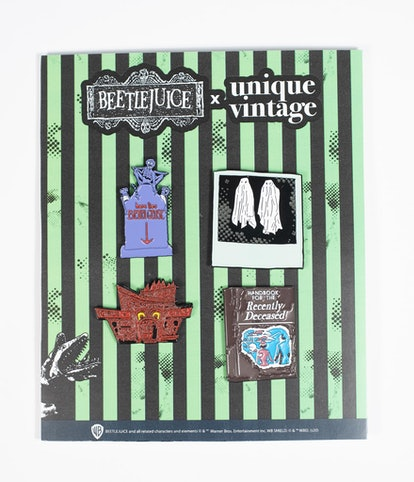 Beetlejuice x Unique Vintage Pin Set
