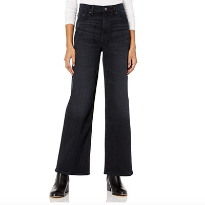 The Drop Lizzy High-Rise Wide Leg Marine Fit Jean