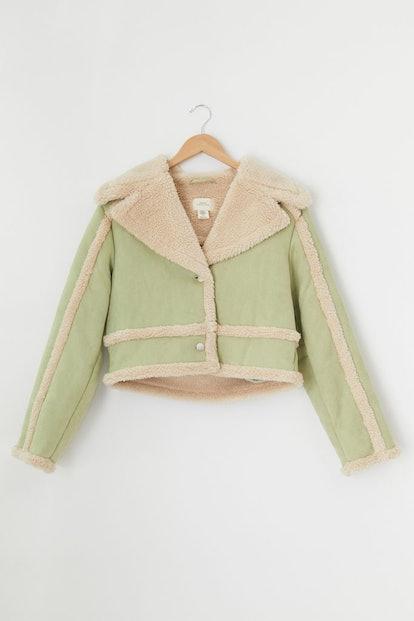Chloe Faux Shearling Cropped Jacket