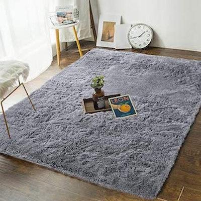 Andecor Soft Fluffy Bedroom Rug (4x6 feet)