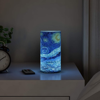 Lavish Home LED Starry Night Candle with Remote Control Timer