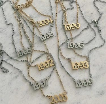 Birth Year Necklace