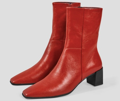 GABI Red Leather Boots