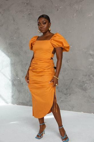 Zanaya Midi Dress Ginger