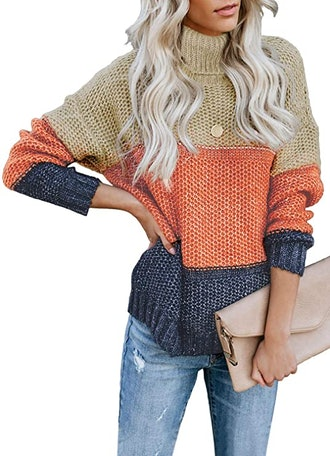Lovezesent Color Block Sweater