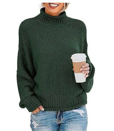 ZESICA Turtleneck Sweater