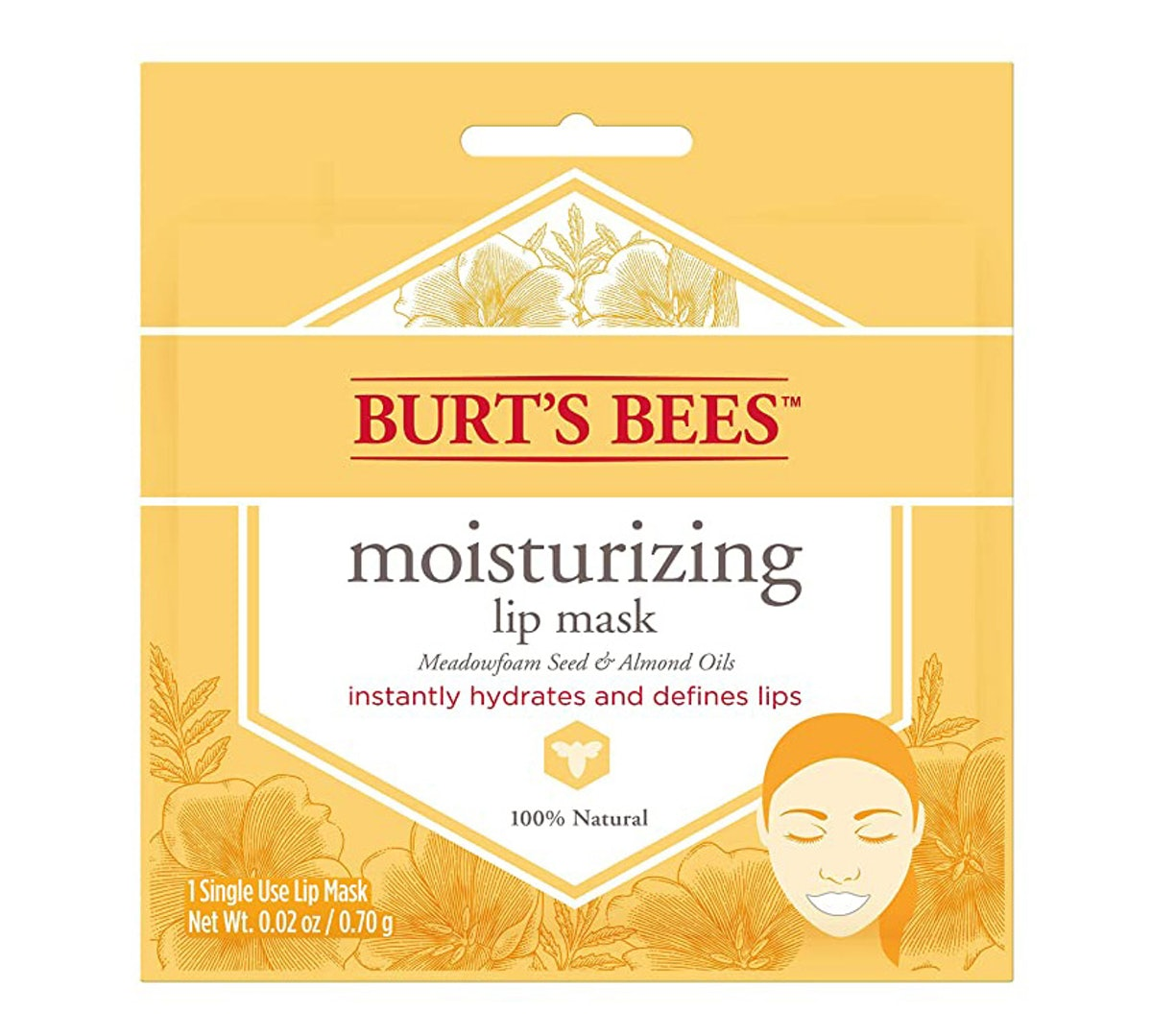 Burt's Bees Moisturizing Lip Mask (6-Pack)