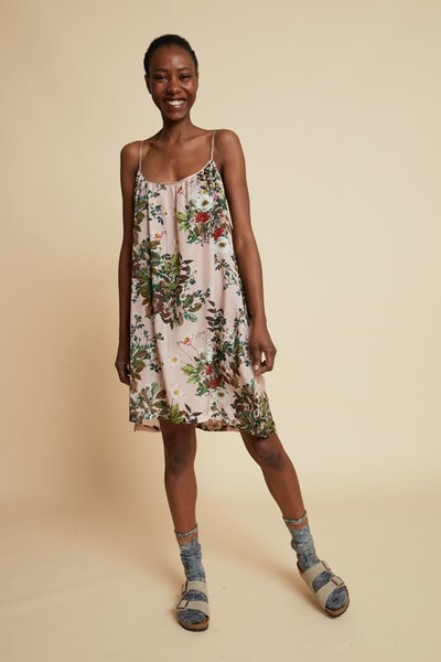 Love Letter Pink Floral Strappy Nightgown