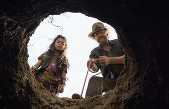 Michael Rooker and Ariana Greenblatt in 'Love and Monsters.'