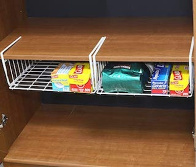 Simple Houseware 2 Pack Under Shelf Basket