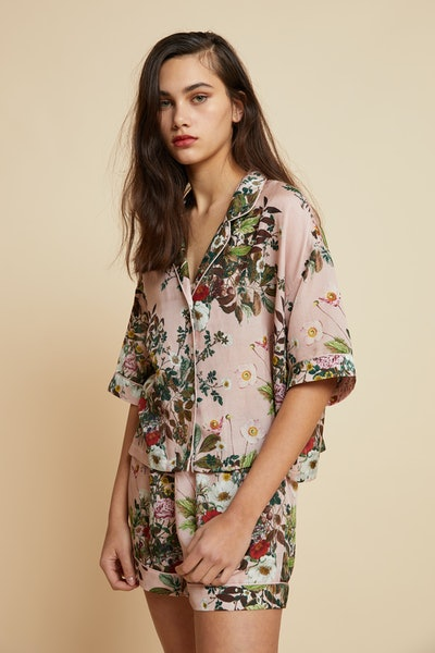 Pink Floral Boxer Pajama
