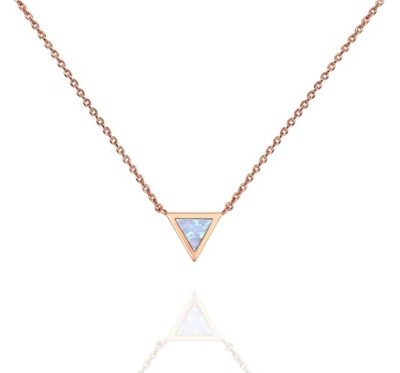 PAVOI Triangle Opal Neckalce