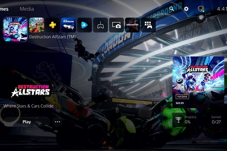 PS5 user interface