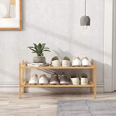BAMEOS 2-Tier Shoe Rack