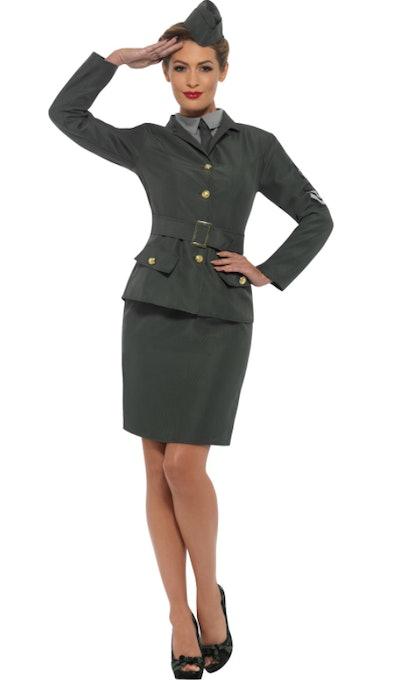 WW2 Army Girl Adult Costume