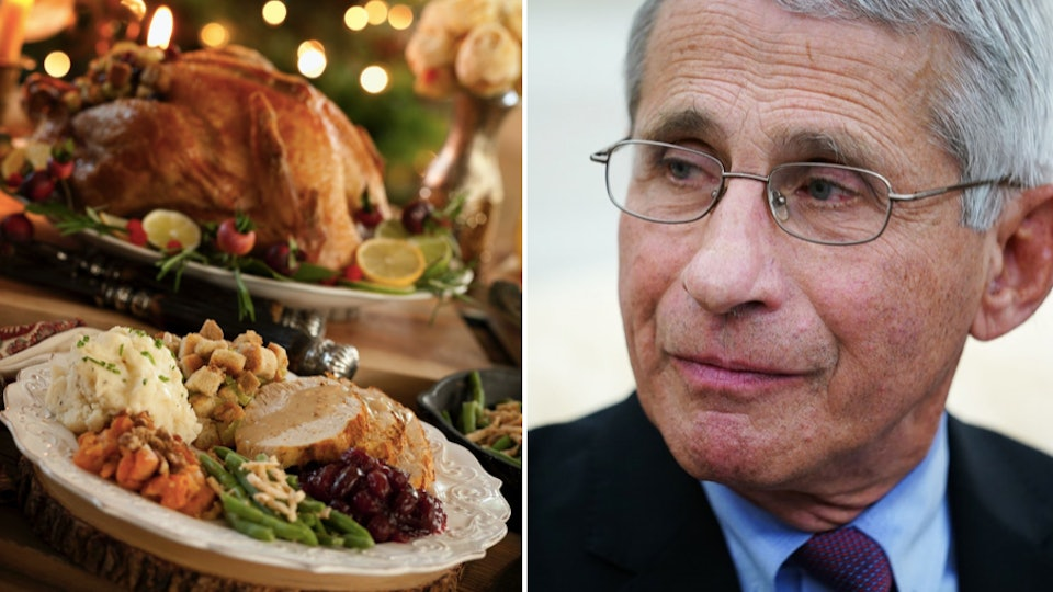 Dr. Fauci suggests forgoing the big Thanksgiving celebration this year.