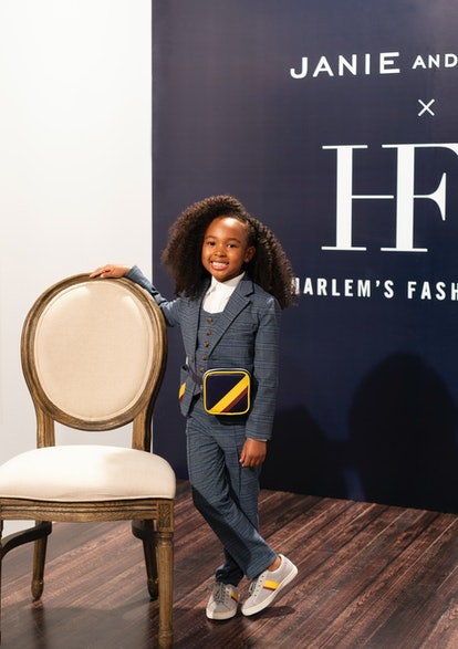 Zhuri James helped kick off the collection between Janie and Jack and Harlem's Fashion Row.