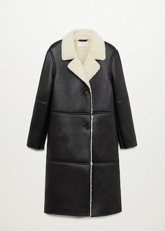Faux Shearling Lining Coat