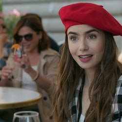 Lily Collins thinks her 'Emily in Paris' character is around 22, but the show says she has a Master's degree.