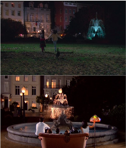 A fountain in 'Hocus Pocus' and the 'Friends' opening credits is actually the same fountain.