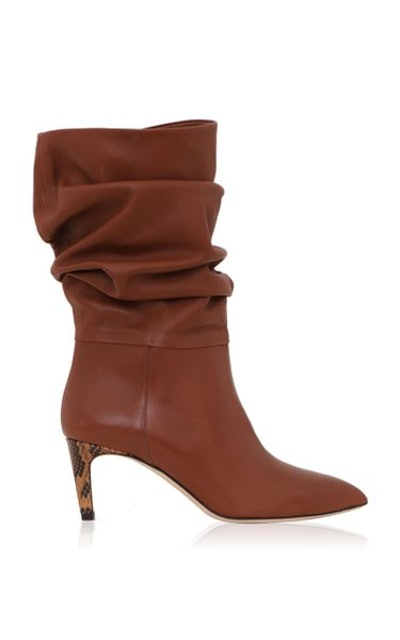 Slouchy Leather Calf Boots