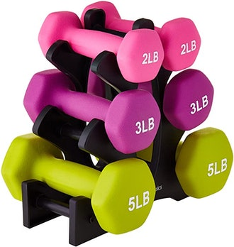 AmazonBasics Neoprene Dumbbell Hand Weights