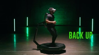 Virtuix's Omni One is a VR treadmill that translates real-world movement into games.