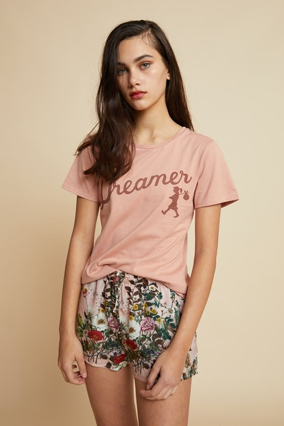 Love Letter Pink Tee and Boxer Pajama Set