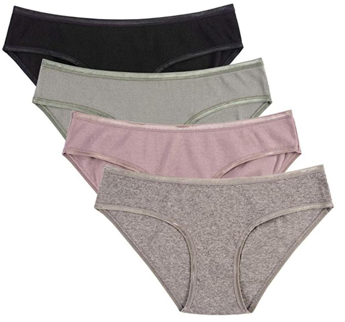 Knitlord Cotton Stretch Bikini Panties (Set of 4)