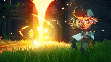 A mage casting a spell in Spellbreak.