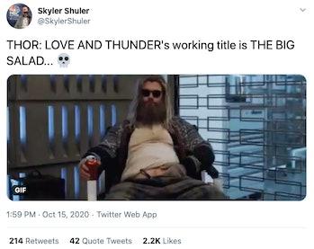 thor love and thunder leak