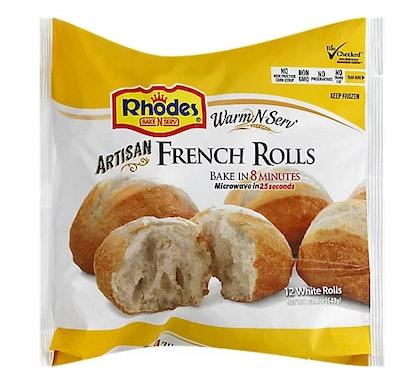 Rhodes Warm N Serv White Rolls Artisan French Rolls