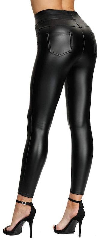 MCEDAR Plus Size Faux Leather Leggings