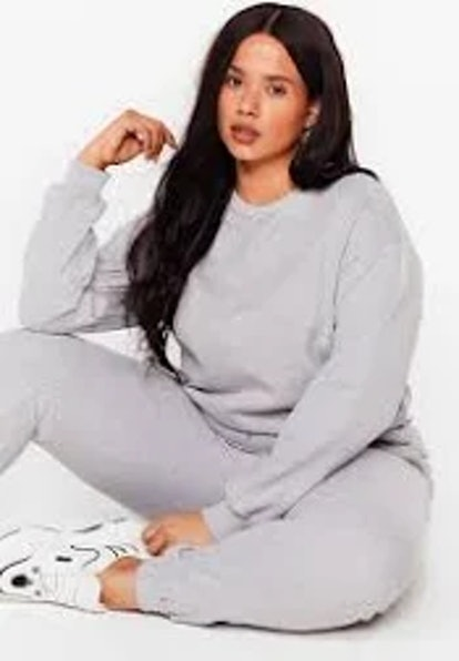 Nasty Gal Crew Said Plus Sweatshirt and Jogger Set