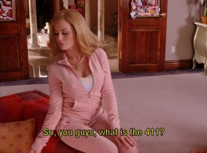 """Amy Poehler in """"Mean Girls"""" wearing a light, pink tracksuit."""