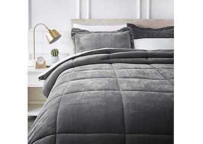 AmazonBasics Ultra-Soft Micromink Sherpa Comforter