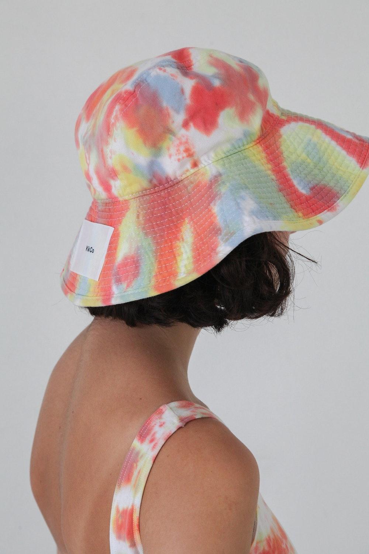 Vacationer Hat in Lichen Tie-Dye