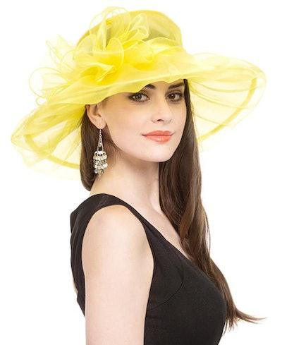 Saferin Women's Organza Church Kentucky Derby Hat