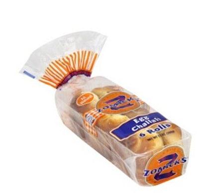 Zomick's Kosher Egg Challah Rolls Bread