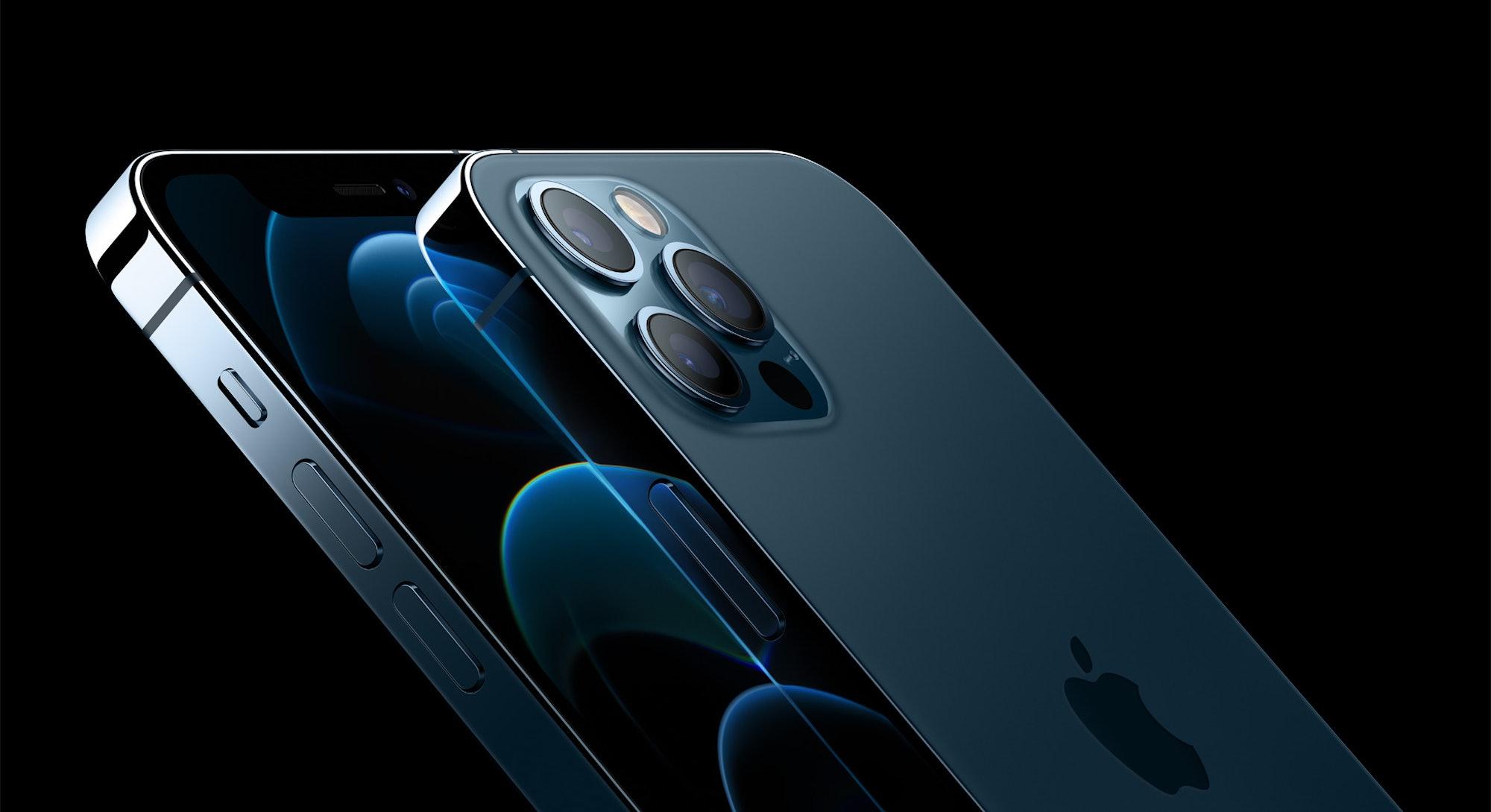 An iPhone 12 close up
