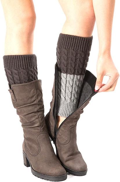 Bestjybt Knitted Boot Cuffs