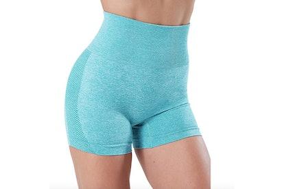 SALSPOR Seamless High Waist Workout Shorts