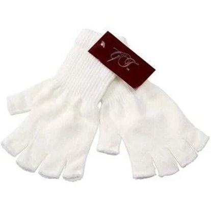Gravity Threads Unisex Warm Half Finger Stretchy Knit Gloves