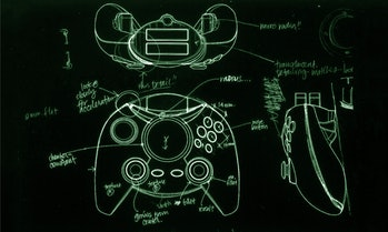 Original concept art for the Duke controller.
