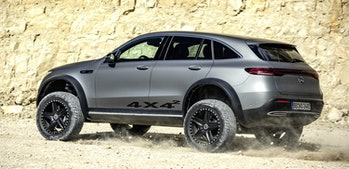 Mercedes made an off-road version of its EQC electric SUV.