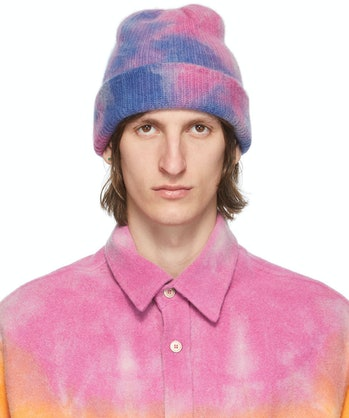 The Elder Statesmen Hot Dye Watchman Beanie